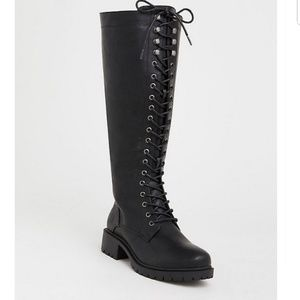 Torrid lace-up tall combat boot
